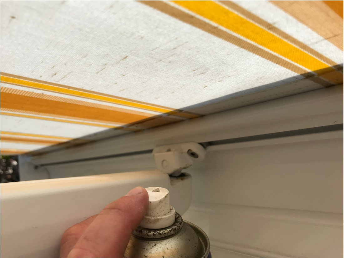 Awning Service lubricate moving parts
