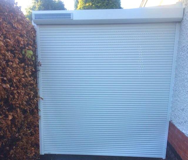Solar Garage Door Nottingham closed