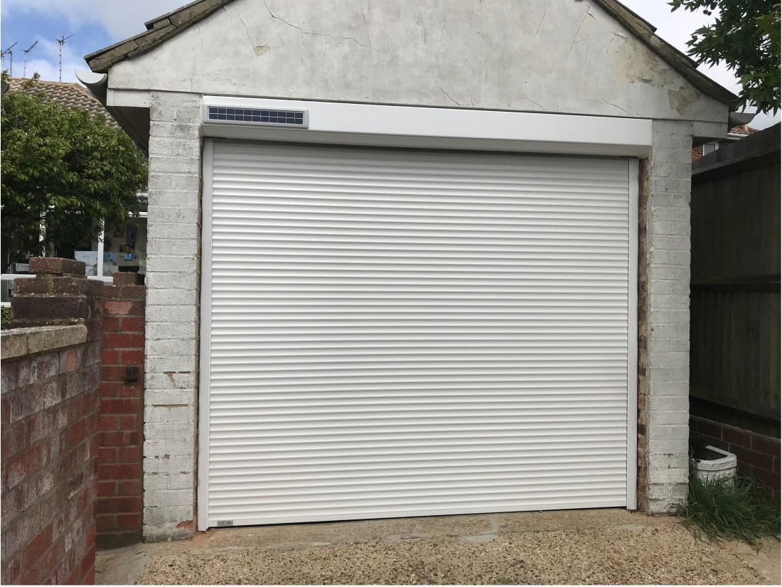 Solar Powered Roller Garage Door Hove West Sussex after