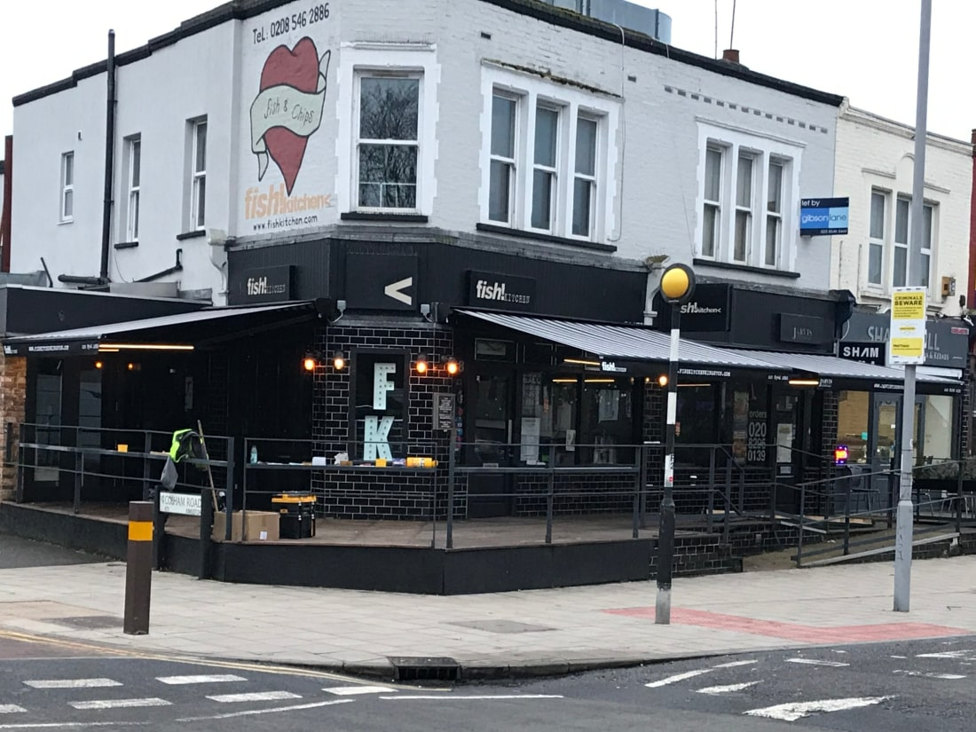 Awning with light in the arms Kingston Upon Thames Surrey