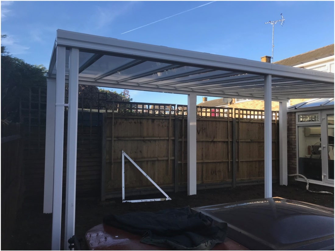 Faversham Kent SBI 16 Free Standing Veranda Goal Post