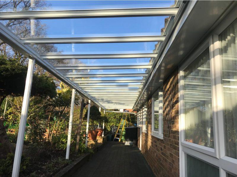 Glass Verandah Leatherhead Surrey After