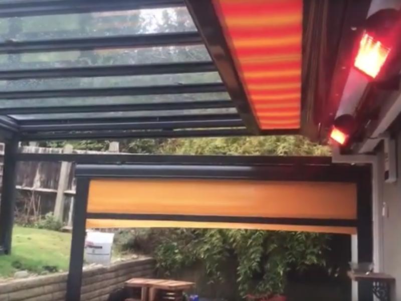 Veranda Awning Under Glass Coulsdon Surrey