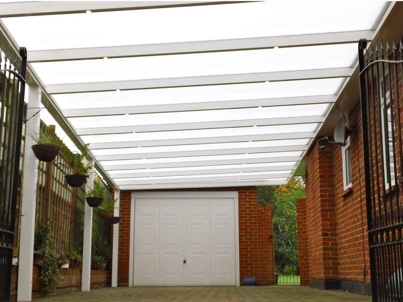Carport with spotlights ashtead Surrey