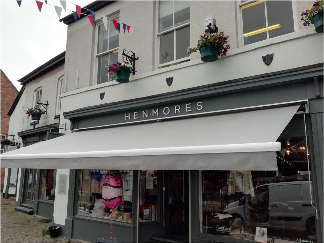 Shop Awning Ashbourne Derbyshire