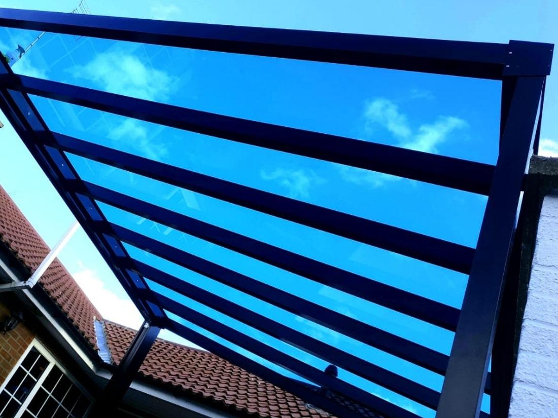 Blue tinted Glass Veranda Bury St Edmunds Suffolk