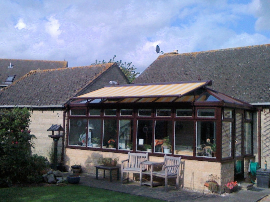 Opened Conservatory Awning